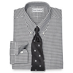 1960s – 1970s Mens Shirts- Dress, Mod, Disco, Turtleneck Non-Iron 2-Ply 100 Cotton Tattersall Button Down Collar Dress Shirt $30.00 AT vintagedancer.com