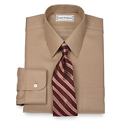 1950s Style Mens Shirts Non-Iron 2-Ply 100 Cotton Textured Dot Straight Collar Dress Shirt $30.00 AT vintagedancer.com