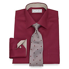 1930s Style Mens Shirts Non-Iron Cotton Pinpoint Oxford Dress Shirt $90.00 AT vintagedancer.com