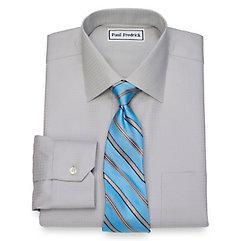 1930s Style Mens Shirts Non-Iron Cotton Check Dress Shirt $40.00 AT vintagedancer.com