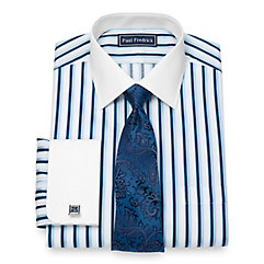 1920s Men's Dress Shirts Cotton Alternating Stripe Dress Shirt $40.00 AT vintagedancer.com