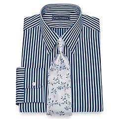 1930s Style Mens Shirts Cotton Herringbone Stripe Dress Shirt $40.00 AT vintagedancer.com