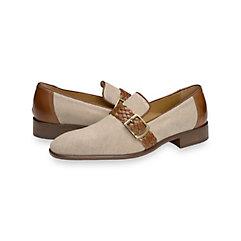 1950s Style Mens Shoes Ainsley Belted Loafer $250.00 AT vintagedancer.com