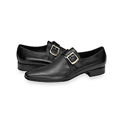 1950s Style Mens Shoes Murray Embossed Monk Strap $250.00 AT vintagedancer.com