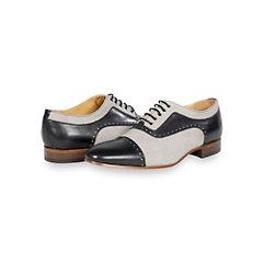 Italian Canvas & Leather Cap Toe Oxford Shoe
