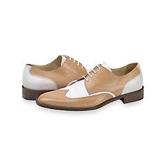 1950s Style Mens Shoes Francis Wingtip Derby $160.00 AT vintagedancer.com