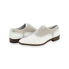 Italian Leather & Canvas Oxford Shoe