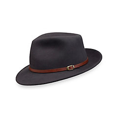 1960s Style Men's Hats Wool Fedora With Leather Band $95.00 AT vintagedancer.com
