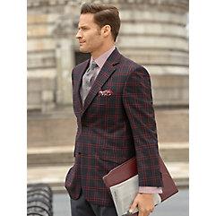 1930s Style Mens Suits Wool Plaid Sport Coat $250.00 AT vintagedancer.com