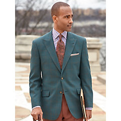 1950s Style Mens Suits Wool Windowpane Sport Coat $250.00 AT vintagedancer.com