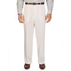 1950s Style Men's Pants Wool Pleated Pants $99.00 AT vintagedancer.com