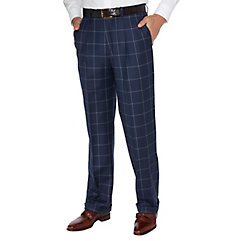 Men's Vintage Style Pants, Trousers, Jeans, Overalls Wool Flannel Pleated Pants $100.00 AT vintagedancer.com