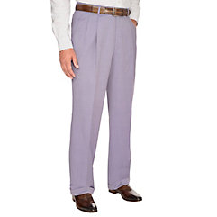 Men's Vintage Style Pants, Trousers, Jeans, Overalls Super 120s Featherbone Pleated Pants $85.00 AT vintagedancer.com
