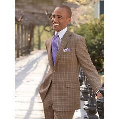 1950s Style Mens Suits Plaid Pure Wool Suit Separate Jacket $120.00 AT vintagedancer.com