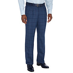 Victorian Men's Clothing Wool Plaid Pleated Suit Pant $110.00 AT vintagedancer.com