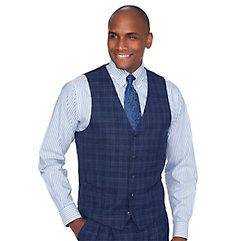 Men's Vintage Inspired Vests Wool Plaid Suit Vest $110.00 AT vintagedancer.com