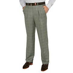 1920s Mens Clothing Wool  Silk Pleated Suit Pant $110.00 AT vintagedancer.com