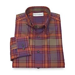 1950s Style Mens Shirts Non-Iron 100 Cotton Plaid Hidden Button Down Sport Shirt $50.00 AT vintagedancer.com