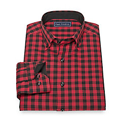 1950s Style Mens Shirts Cotton Check Sport Shirt $50.00 AT vintagedancer.com