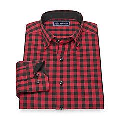 1950s Style Mens Shirts Cotton Check Sport Shirt $80.00 AT vintagedancer.com