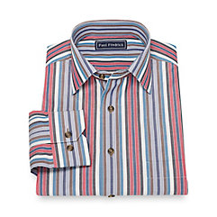 1950s Style Mens Shirts Cotton Stripe Sport Shirt $80.00 AT vintagedancer.com