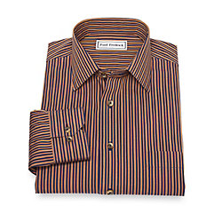 Men's Victorian Costume and Clothing Guide Non-Iron Cotton Stripe Sport Shirt $65.00 AT vintagedancer.com