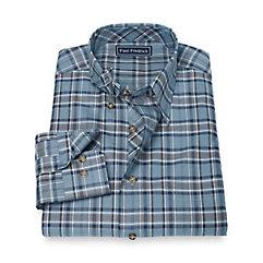1950s Style Mens Shirts 100 Cotton Plaid Hidden Button Down Collar Sport Shirt $39.00 AT vintagedancer.com