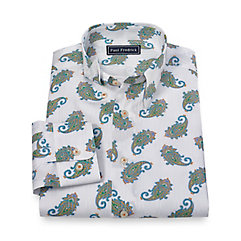 1960s – 1970s Mens Shirts- Dress, Mod, T-Shirt, Turtleneck Cotton Paisley Sport Shirt $30.00 AT vintagedancer.com