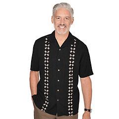 Men's Vintage Style Clothing Silk Embroidered Sport Shirt $75.00 AT vintagedancer.com