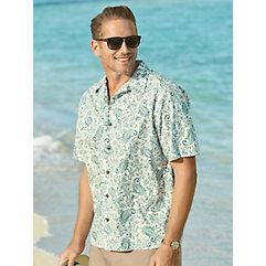 1960s – 1970s Mens Shirts- Dress, Mod, T-Shirt, Turtleneck Cotton Paisley Sport Shirt $45.00 AT vintagedancer.com
