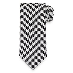 1950s Men's Ties, Skinny, Knit, Traditional Ties Houndstooth Tie $30.00 AT vintagedancer.com