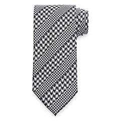 1950s Style Mens Shirts Houndstooth Tie $30.00 AT vintagedancer.com