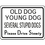 Several Stupid Dogs Aluminum Sign