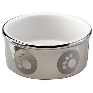Paw Print Titanium Dog Dish