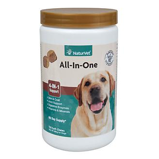 NaturVet All In One Soft Chews- 120 ct
