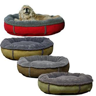 Faux Suede & Berber Comfy Cup Dog Bed