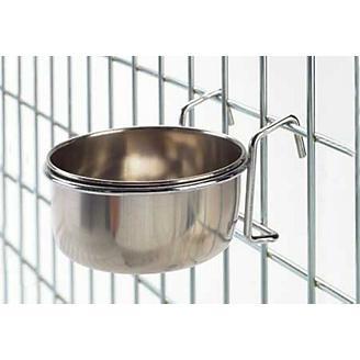 Stainless-Steel Hook-On Coop Bowl