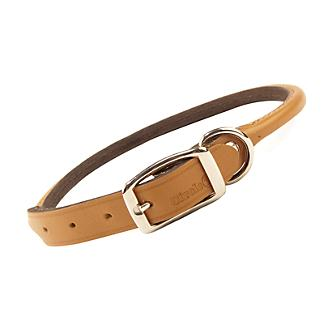 Rolled Oak Leather Collar Tan