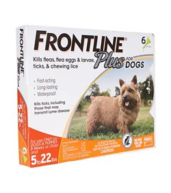 Frontline Plus for Dogs - 6 Month Supply 5-22lbs  - KVSupply com