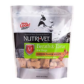 Nutri-Vet Breath and Tartar Dog Biscuit