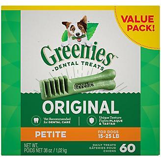 Greenies Dog Dental Chew Treats Petite