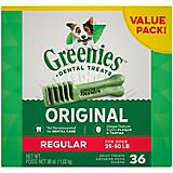 Greenies Dog Dental Chew Treats Regular