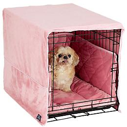 Pet Dreams Dusty Pink Dog Crate Bedding - Dog.com - photo#16
