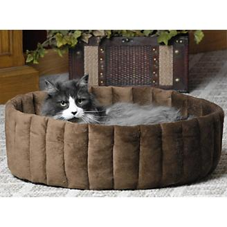 KH Mfg Microfleece Kitty Cup Tan Cat Bed