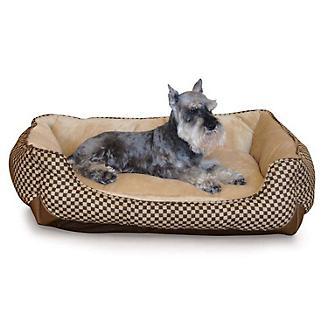 KH Mfg Self-Warming Lounge Sleeper Brown Dog Bed