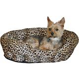 KH Mfg Warming Nuzzle Nest Brown Pet Bed
