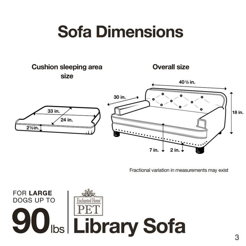 Enchanted Home Pet Library Sofa Dog Bed Dogcom