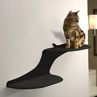RefinedKind Cat Clouds Black Cat Shelf