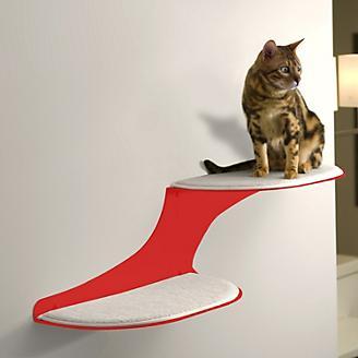 RefinedKind Cat Clouds Red Cat Shelf