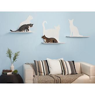 Cat Silhouette Cat Shelves 3 Piece Set